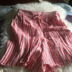 Kelly Rene Plus Size linen blend shorts